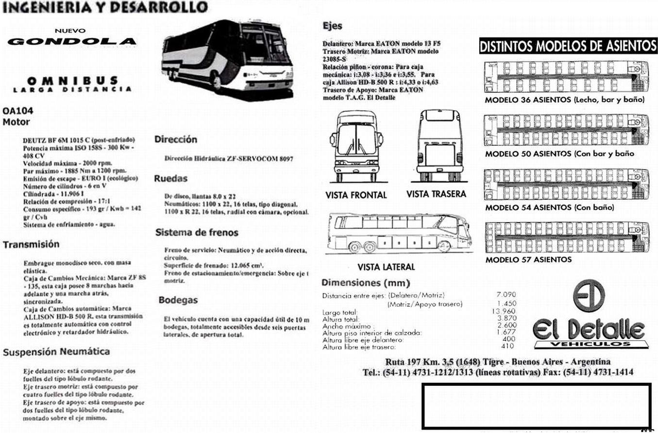 Camion Argentino El Detalle Oa 104 Gondola