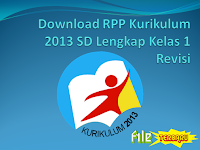 Download RPP Kurikulum 2013 SD Lengkap Kelas 1 Revisi