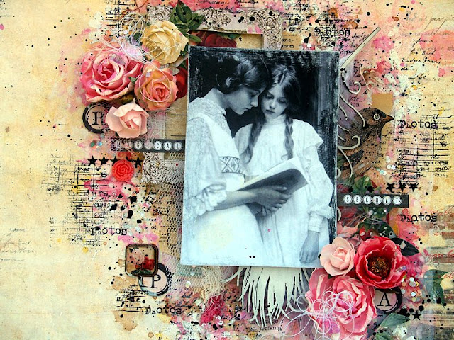 Scraps of Darkness and Scraps of Elegance: Mixed Media Monday
