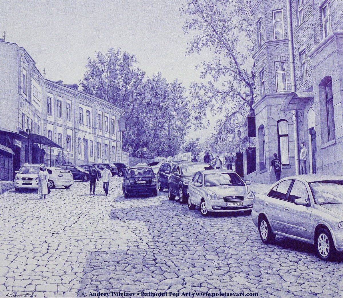 07-Andreevsky-Street-Andrey-Poletaev-Detailed-Urban-Drawings-achieved-with-a-Ballpoint-Pen-www-designstack-co