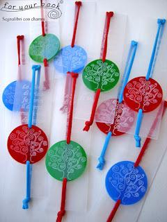 segnalibro elastico ciondolo plexiglas albero della vita