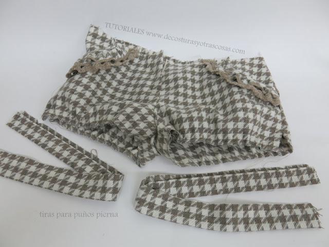 colocación de puños pernera pantalón