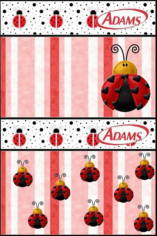 Free Printable Adams Candy Bar Labels for a Ladybugs.