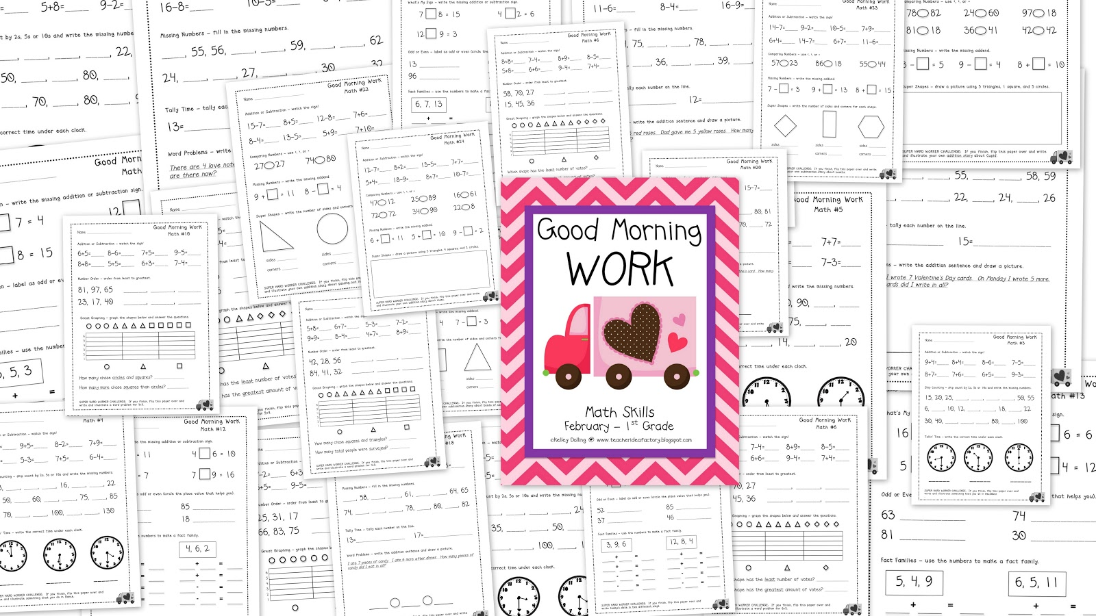 Teacher Idea Factory February Good Morning Work
