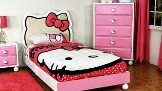 design bedroom Hello Kitty latest 2016 beautiful