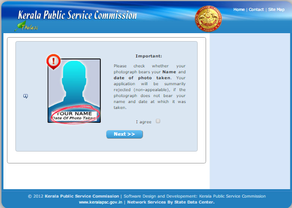 Kerala Psc Thulasi One Time Registration - Existing User - Step 3