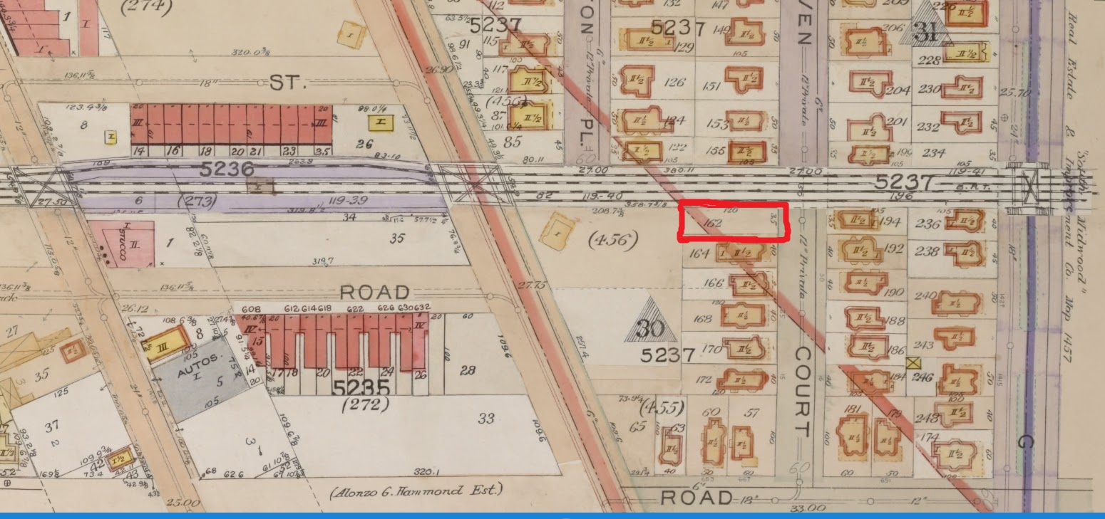 1906 map empty lot in red is today s 37 dekoven court