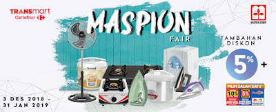 Promo Carrefor Transmart MASPION FAIR