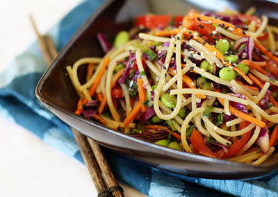 Espaguete à Moda Oriental (vegana)
