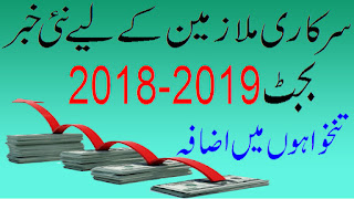salary increase in budget 2018-19