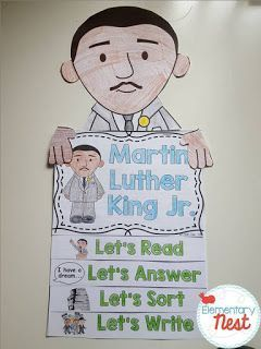 Martin Luther King Jr. Flip Book plus a few FREEBIES- blog post highlighting hands-on activities for kids