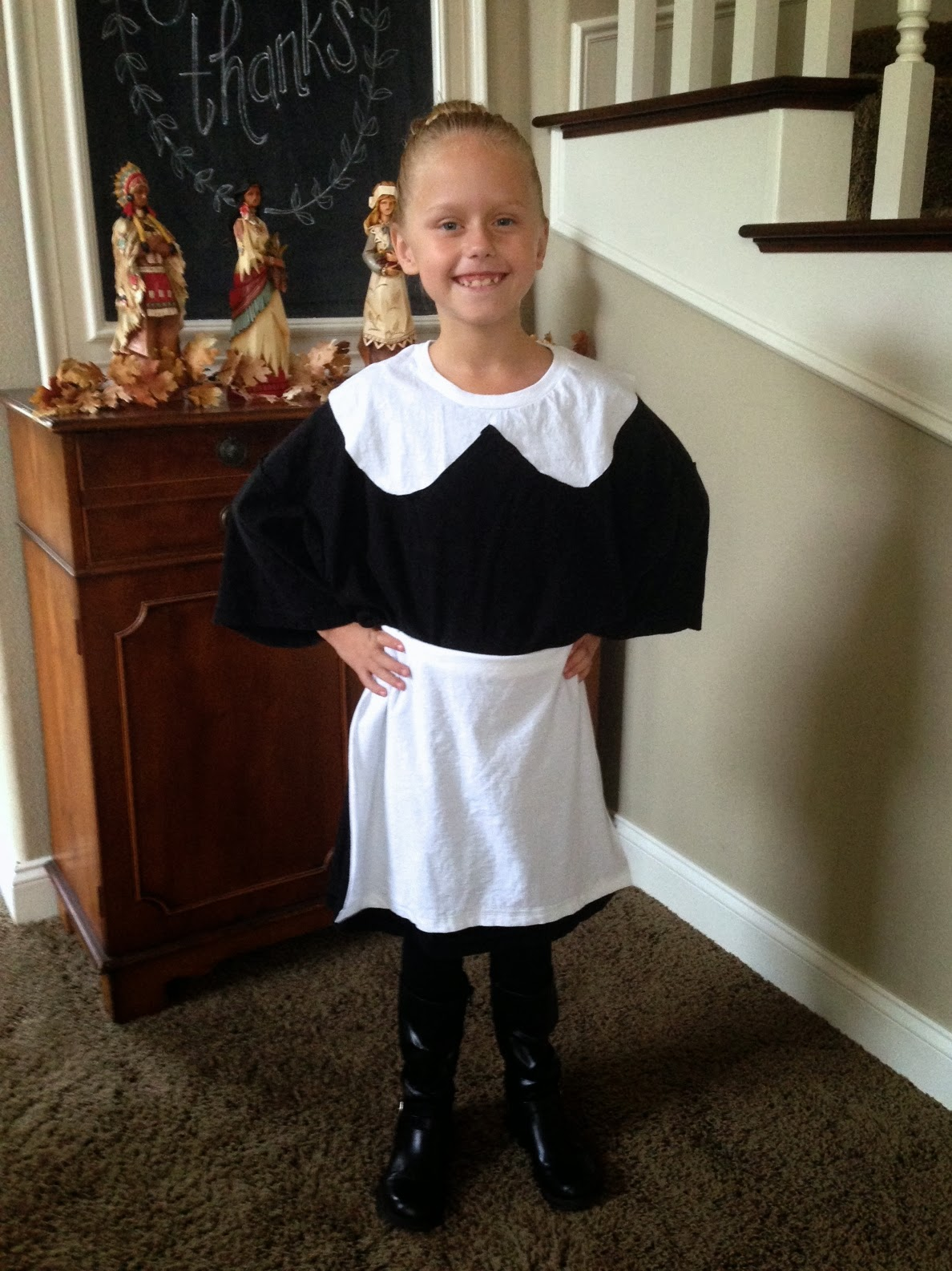 sc 1 st  Right at Home & Right at Home:  Last Minute-1 Minute-No Sew Pilgrim Costume