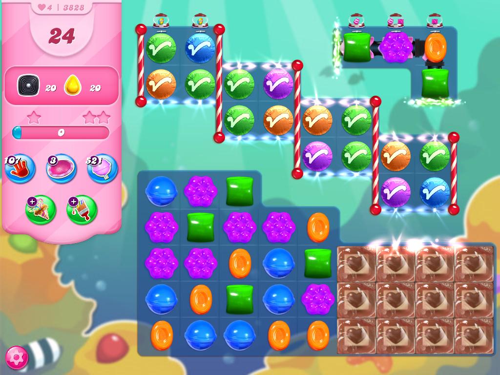 Candy Crush Saga level 3828