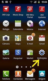 Definições Samsung Galaxy S II