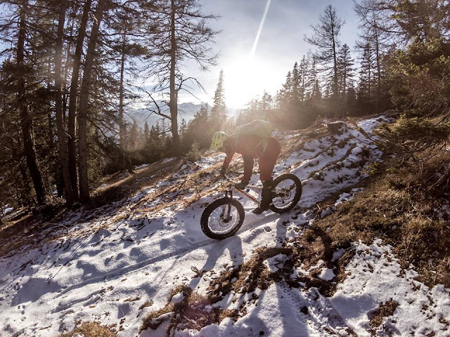 Fat Bike Downhill Winter Blaser Steinach am Brenner