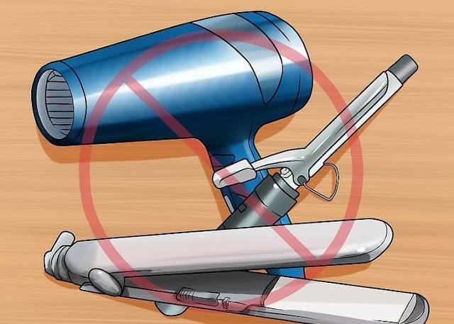 تجنبي أدوات التصفيف الساخنة