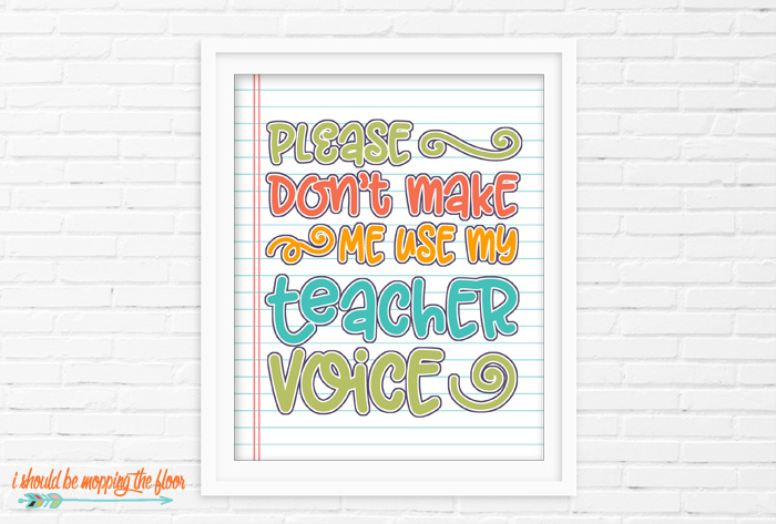 Please Don't Make Me Use My Teacher Voice