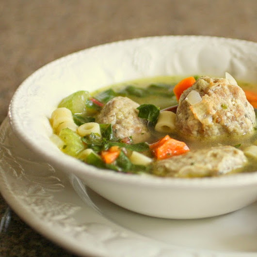 Moving Forward: Italian Wedding Soup