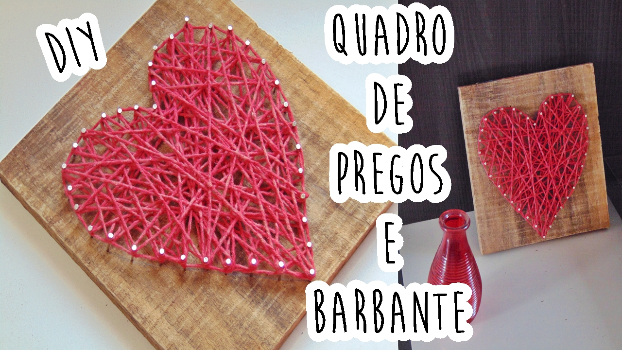 Quadro de prego e barbante - string art