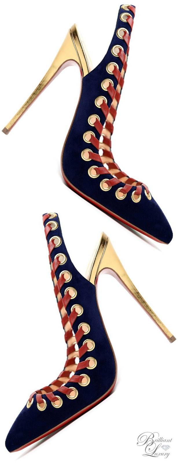 Brilliant Luxury ♦ Christian Louboutin Ostri Sling