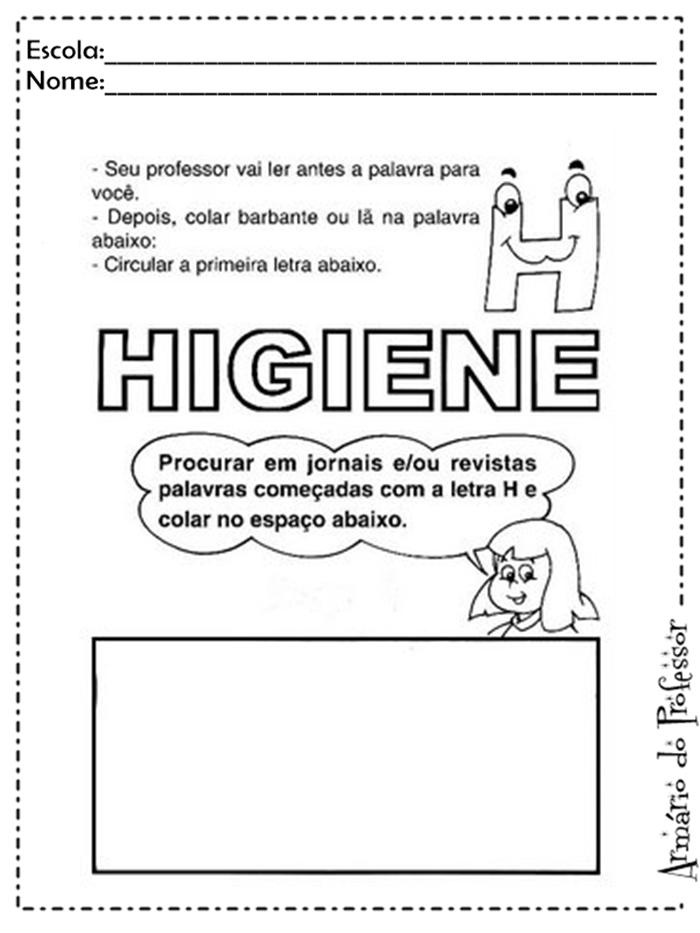 Conhecido Plano de aula: Higiene | Armário do Professor OJ57