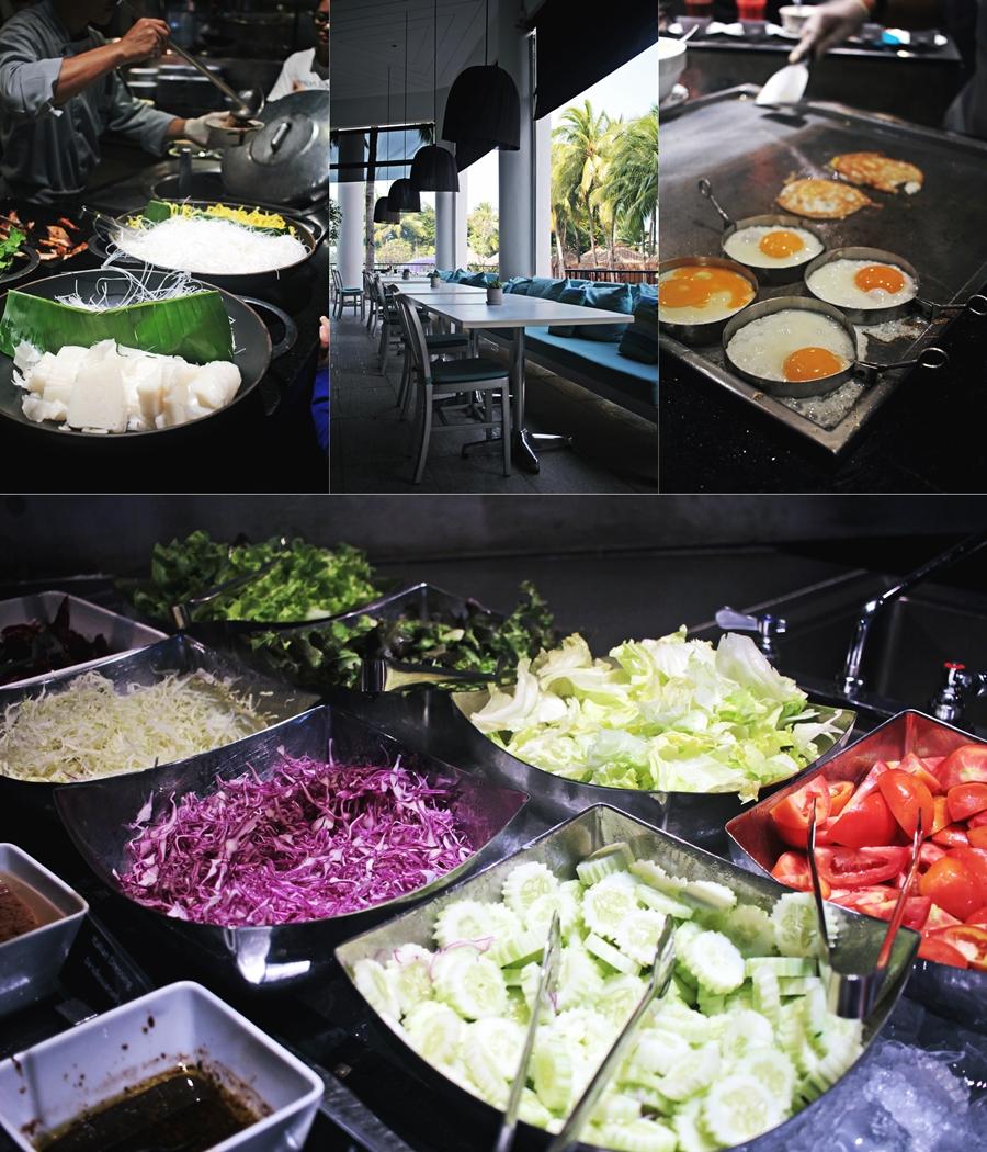 buffet food vegan