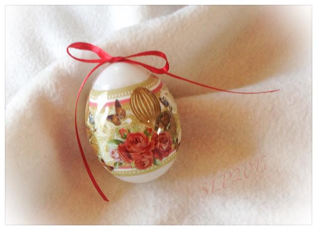pääsiäsimuna koristelu kutistemuovi vintage ruusu