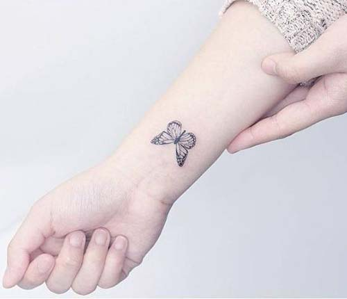 kelebek bilek dövmeleri bayan butterfly wrist tattoos for women