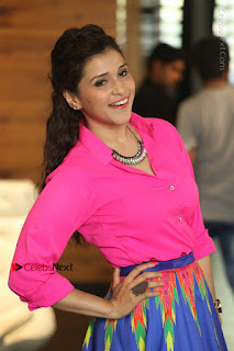 Actress Mannar Chopra in Pink Top and Blue Skirt at Rogue movie Interview  0104.JPG