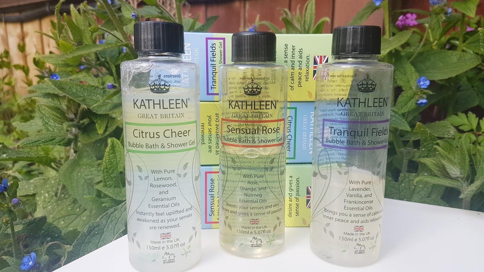 Kathleen Naturals Bubble Bath & Shower Gel trio review