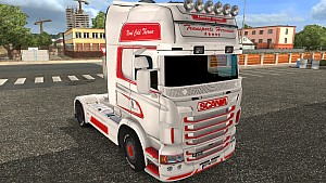 Hervouin trailer and Scania RJL skin