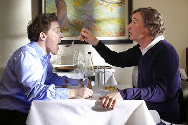 Rob Brydon and Steve Coogan do their impressions of an infant being fed by his ugly-haired nanny.