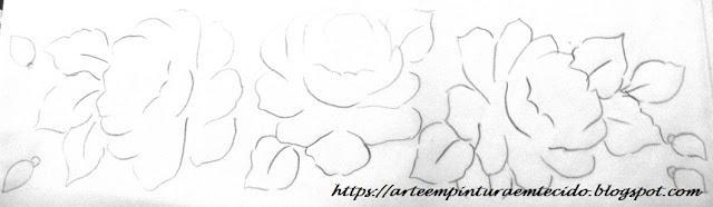 rosas desenho risco