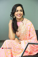 Actress Ritu Varma Pos in Beautiful Pink Anarkali Dress at at Keshava Movie Interview .COM 0198.JPG
