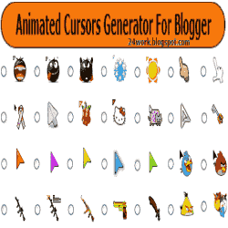 How to change mouse cursor in blogger blog to animated