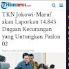 TKN Jokowi Tuduh Dugaan Kecurangan Untungkan 02, BPN: Kalau Benar, Kenapa Menolak Dibentuk TPF?