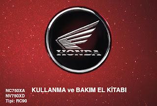 2016 Honda NC750X Kullanma ve Bakım Kitabı