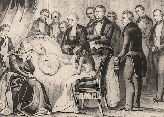 The death of President Zachary Taylor.