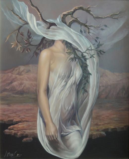 José Marí pintura surrealista arte desnudo femenino