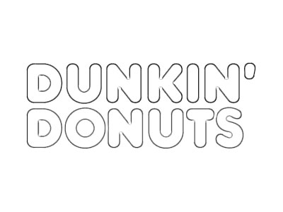 dunkin donuts logo coloring pages sketch page