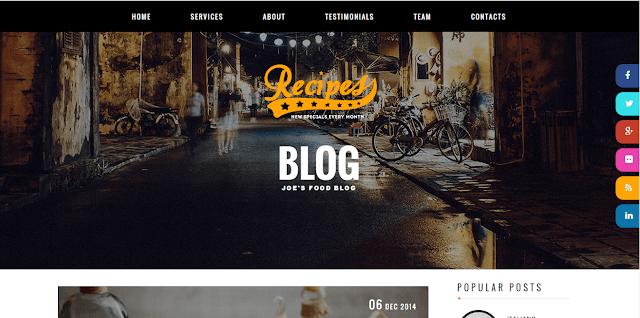 Recipes Blogger Template