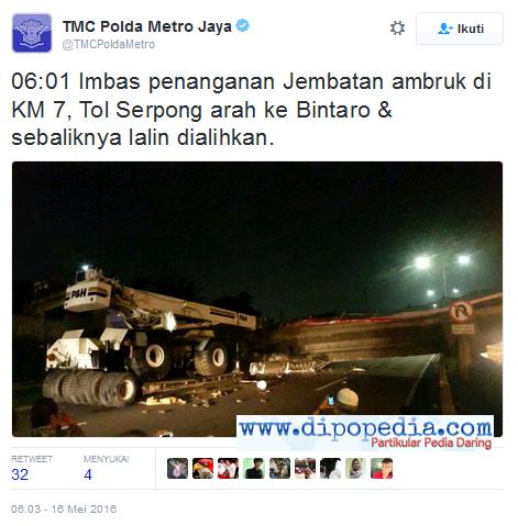 Ilustrasi Upaya Penanganan Kecelakaan Di Ruas Tol BSD Oleh Kepolisian - Dipopedia