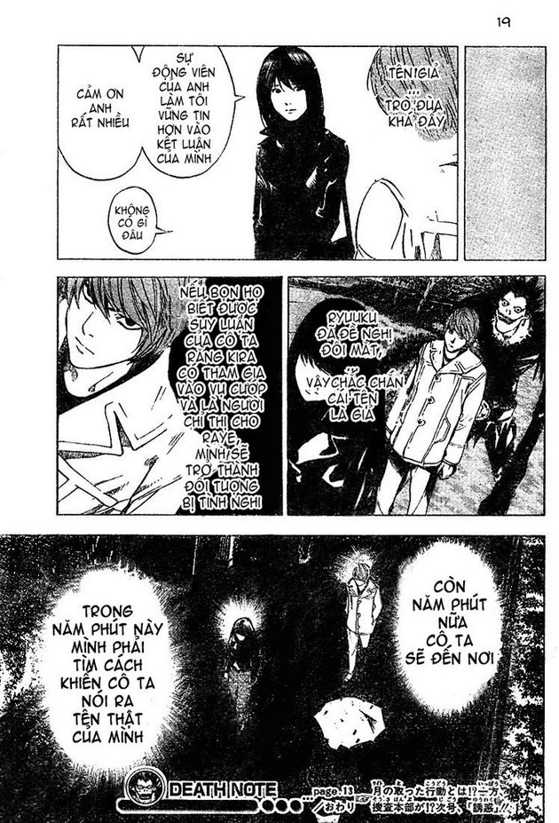 Death Note chapter 013 trang 19