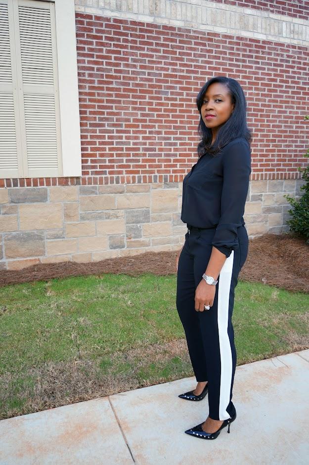 black tuxedo pant