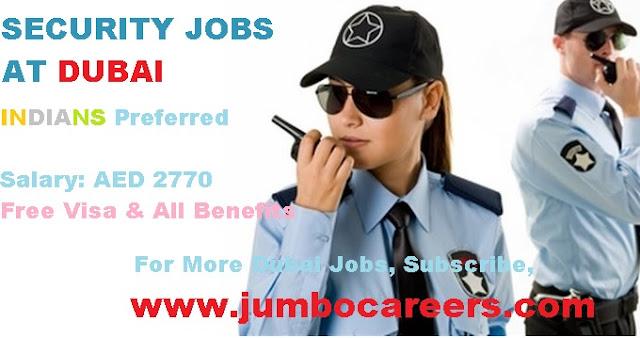 security jobs in dubai, security guard job in dubai latest