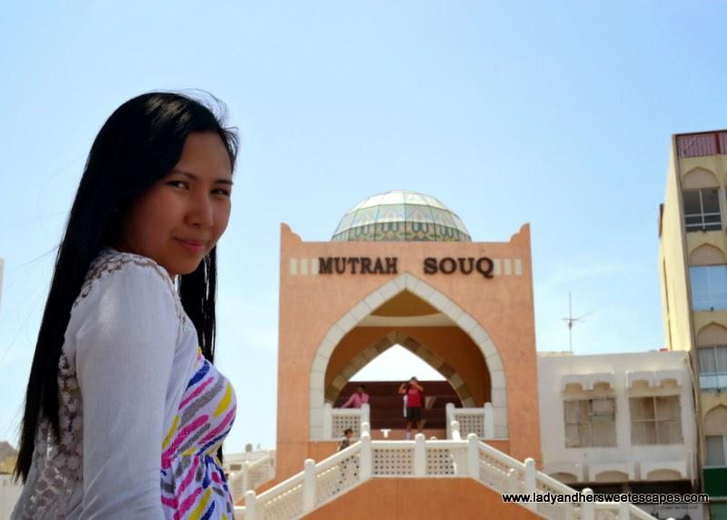 Mutrah Souq's main entrance facing Mutrah corniche