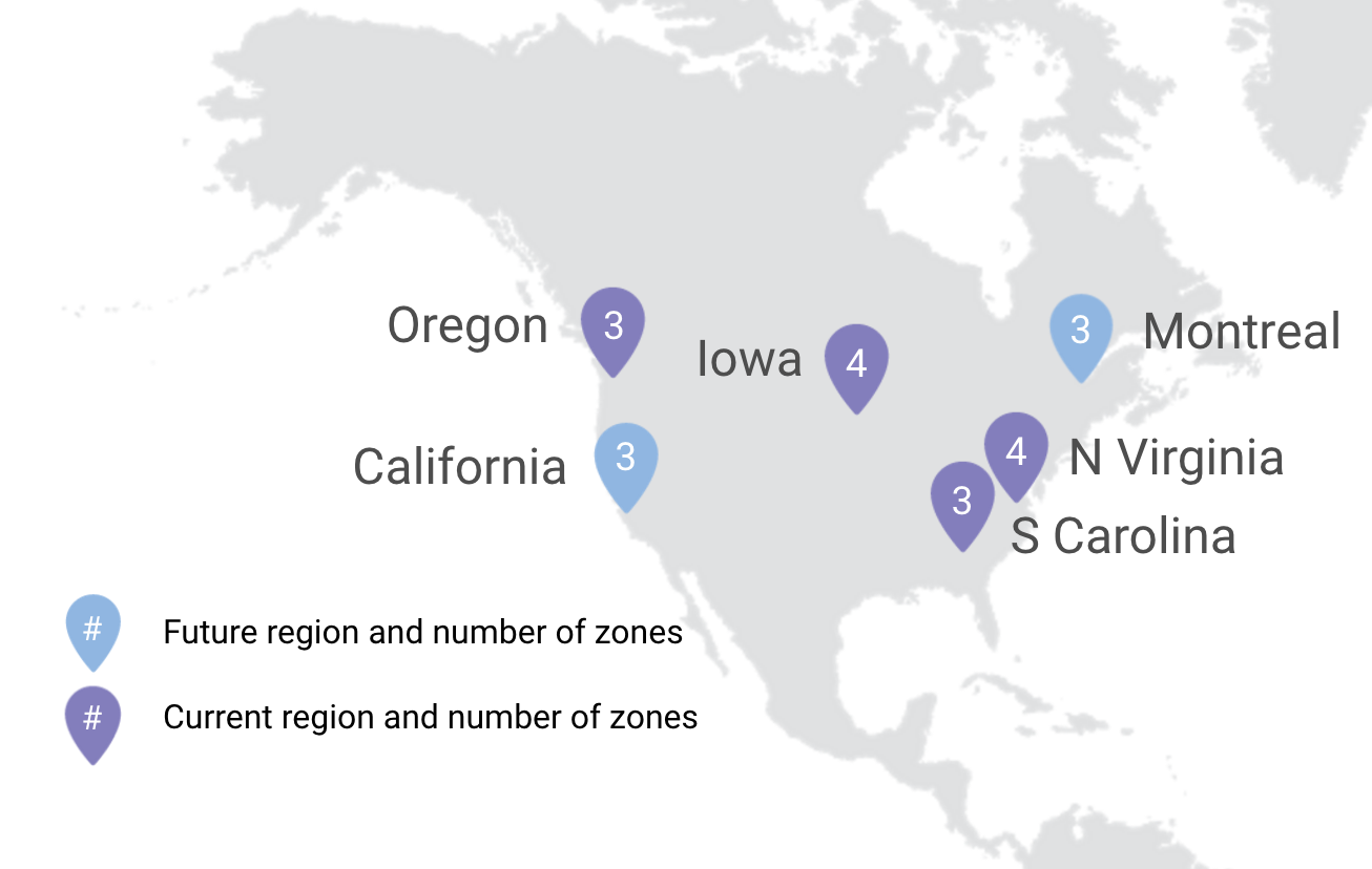Oregon region (us-west1) adds third zone, Cloud SQL and