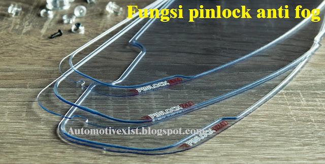 bagi yang belum mengenal dunia otomotif roda dua Fungsi Pinlock Anti Fog Visor Helm