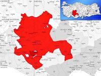 Akören ilçesinin nerede olduğunu gösteren harita