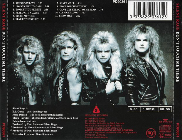 AOR Night Drive: Silent Rage - Don't Touch Me There (1989)